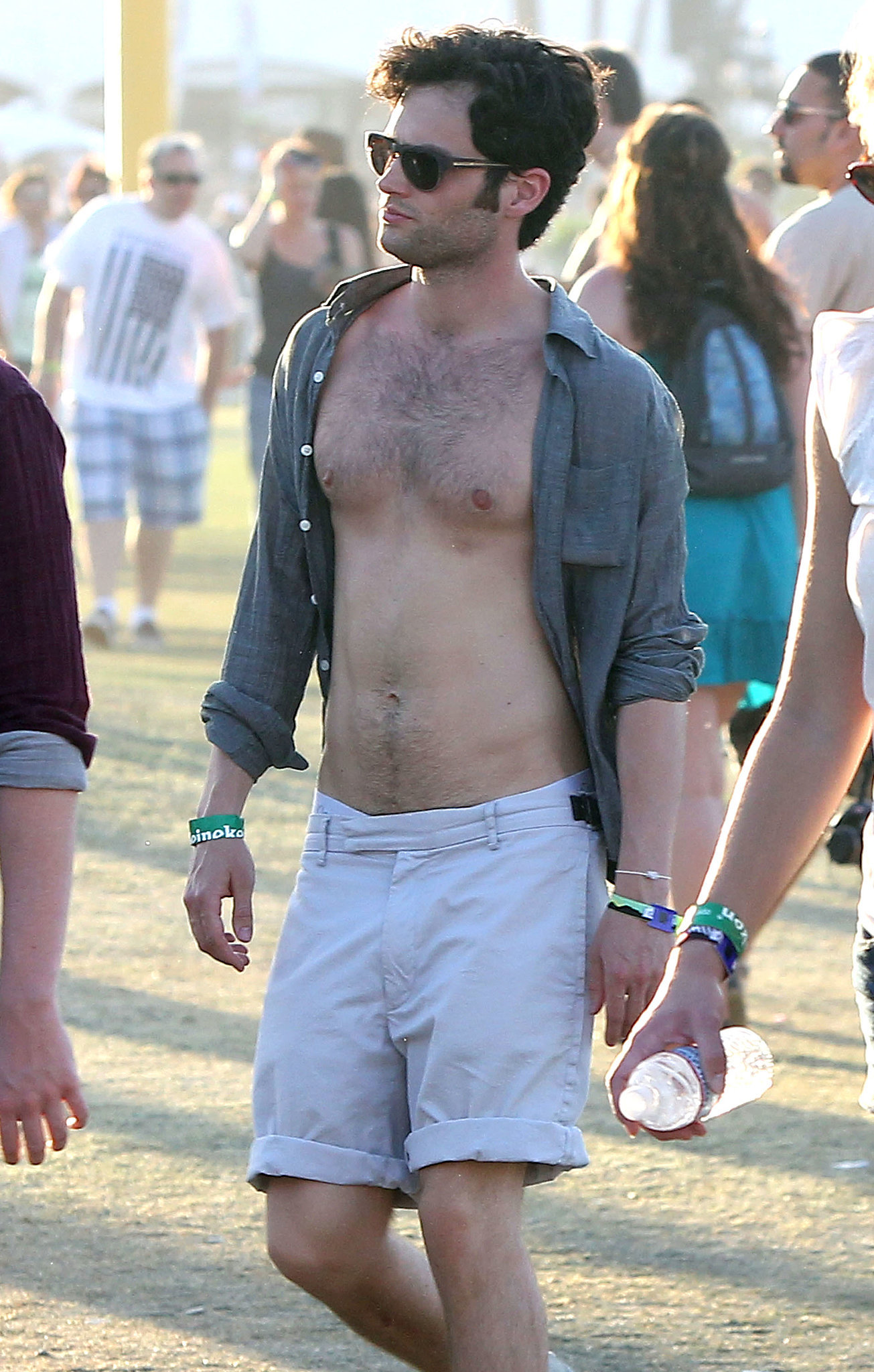 Penn Badgley went shirtless in the 2011 crowd