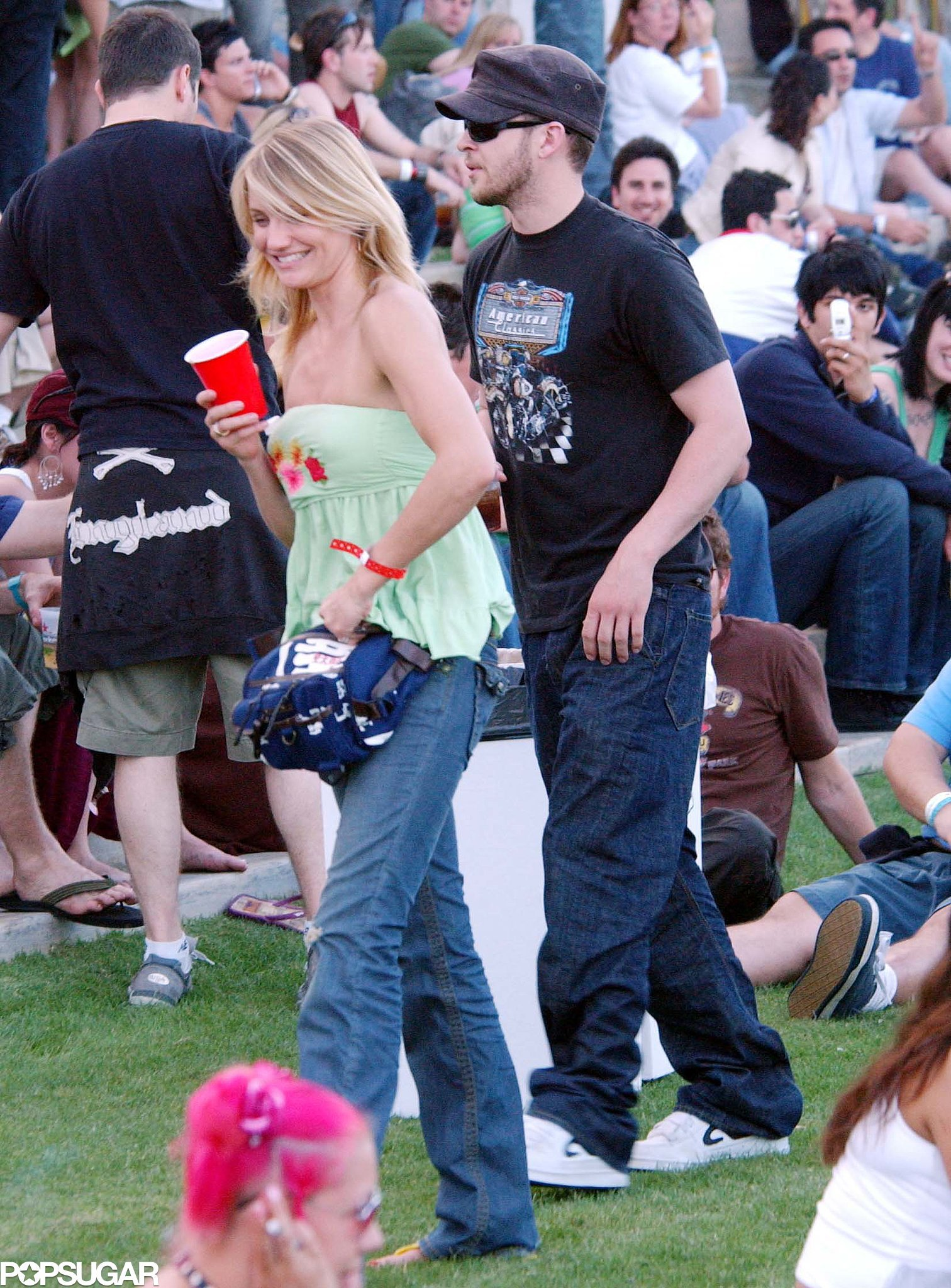 Cameron Diaz and Justin Timberlake checked out the 2005 Coachella crow