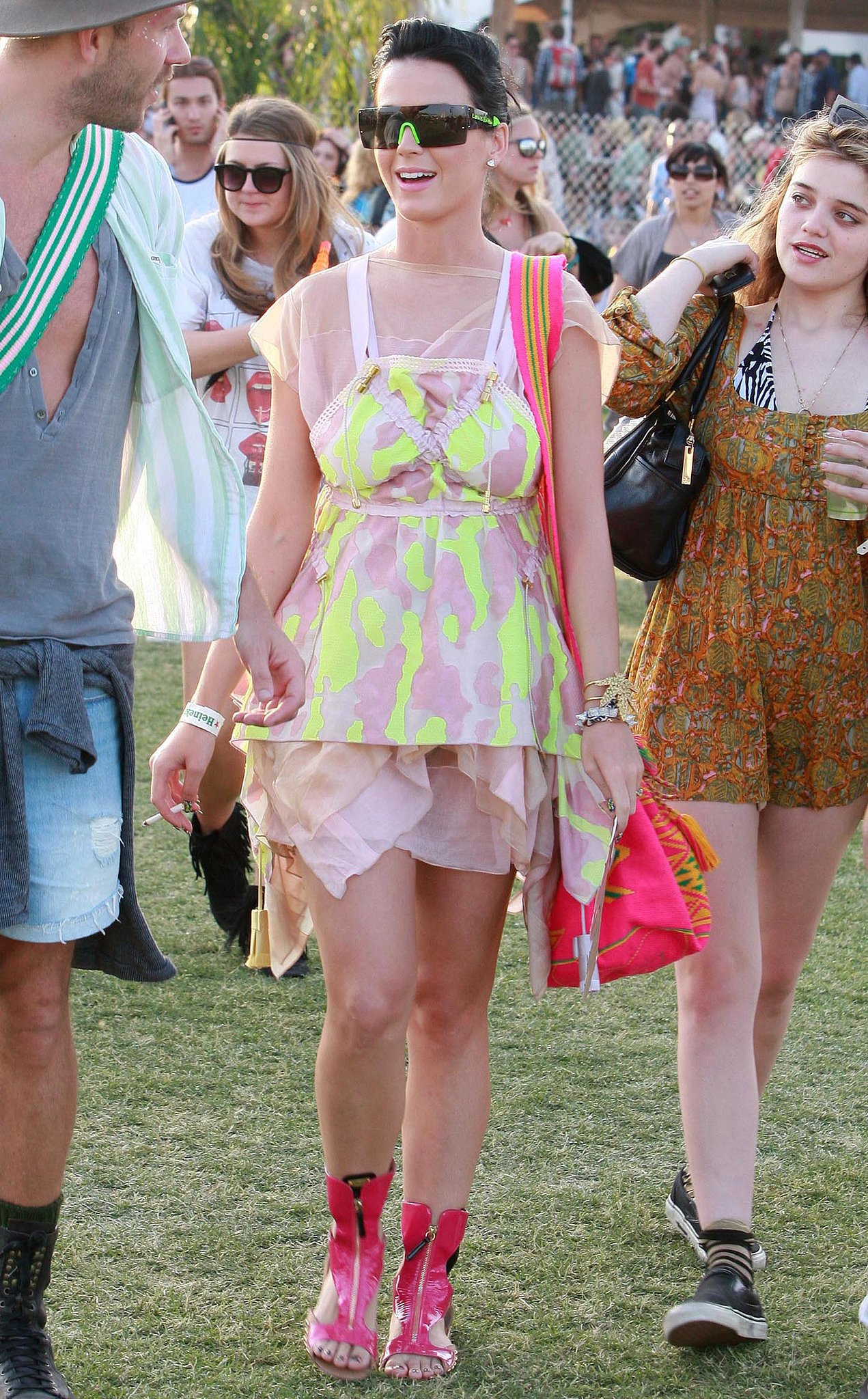 Katy Perry got colorful in the 2010 Coachella crowd.