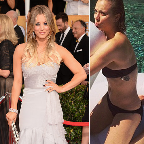 Kaley Cuoco debuted a new tattoo on her ribcage when her husband, Ryan Sweeting, shared a snap of her in a bikini on March 2014. Source: Getty / Theo Wargo and Instagram user ryansweeting