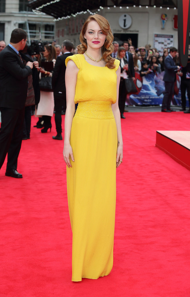 Emma Stone at the London Premiere of The Amazing Spider-Man 2