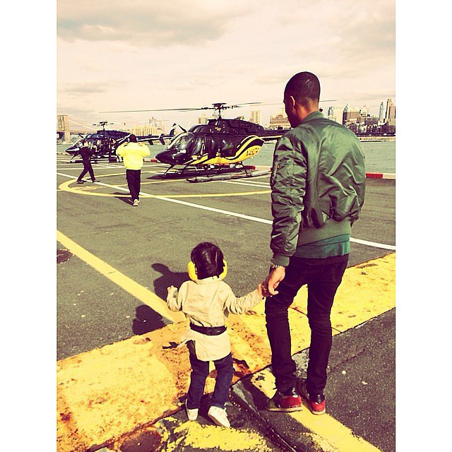 Doutzen Kroes enjoyed a day of choppers with her son, Phyllon, and husband Sunnery James. Source: Instagram user doutzen