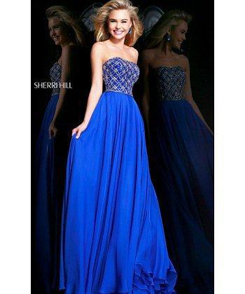 Beads Royal Strapless Sherri Hill Prom Dress 11107