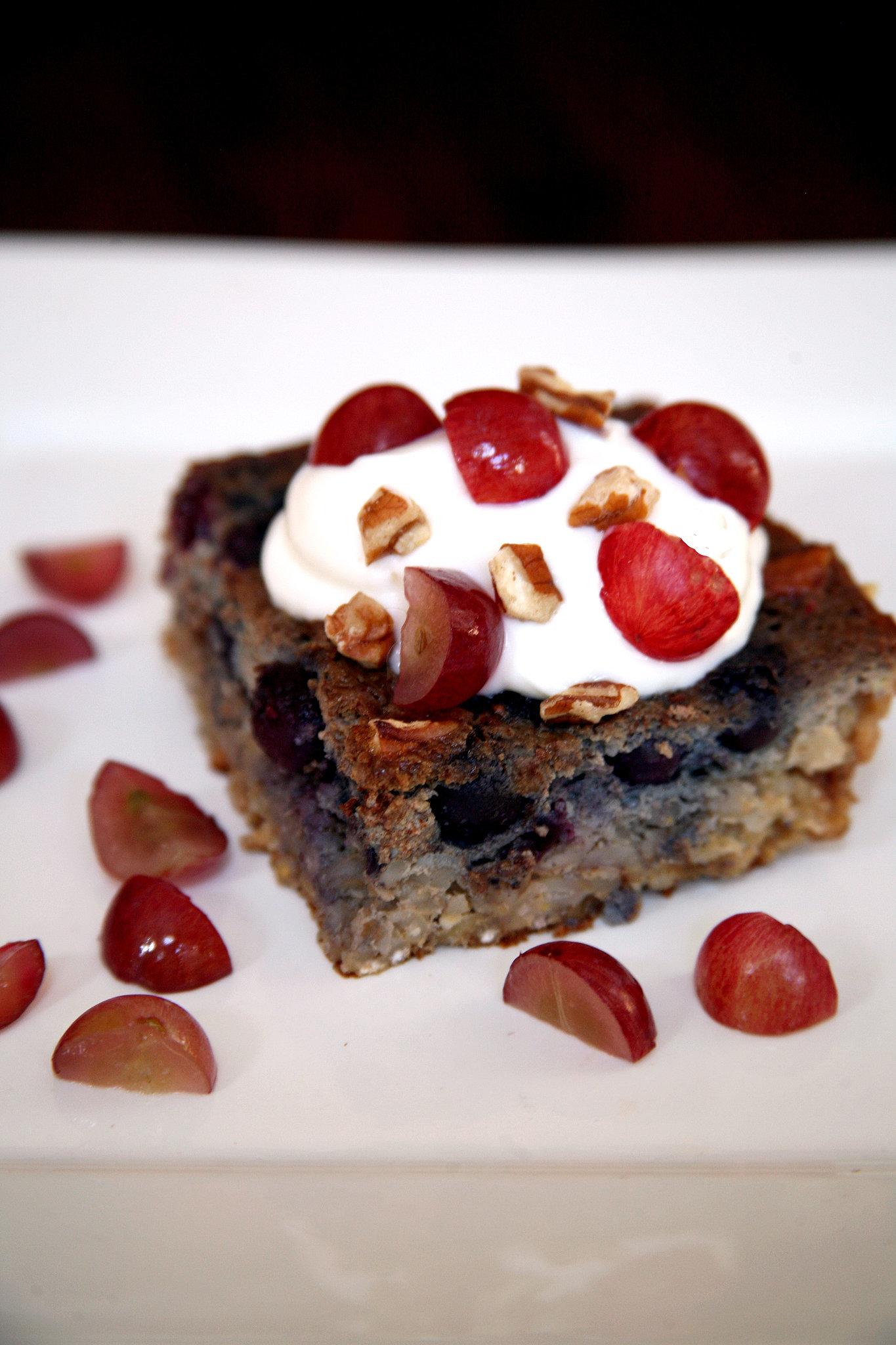 Blueberry-Grape Barley Bake
