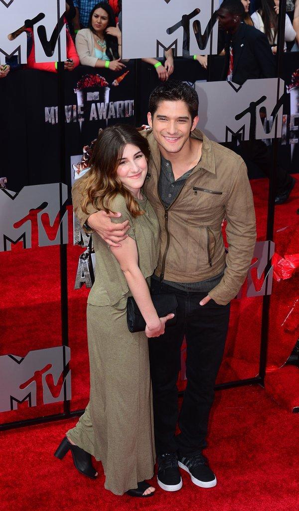 Tyler Posey hugged Seana Gorlick on the red carpet.