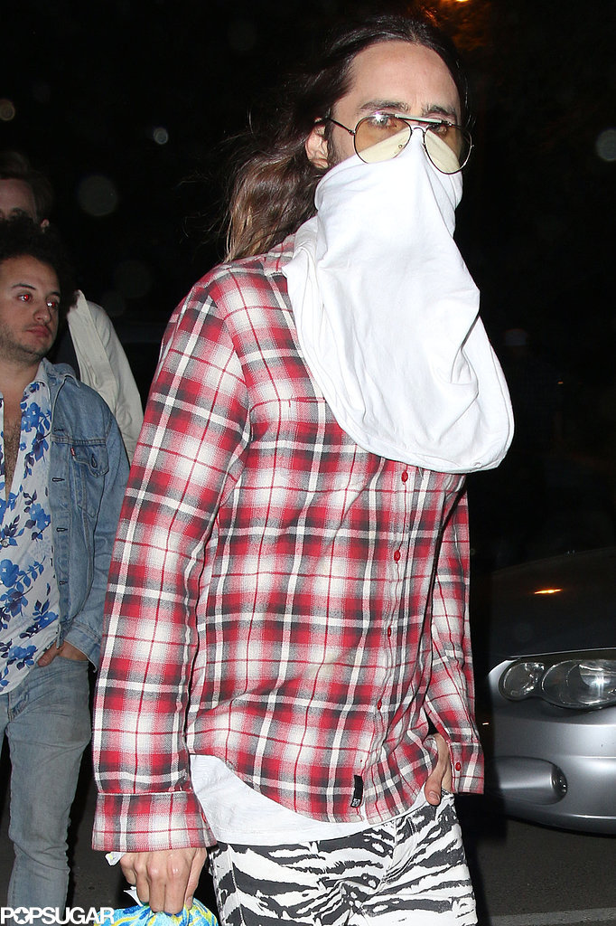 Jared Leto covered up.