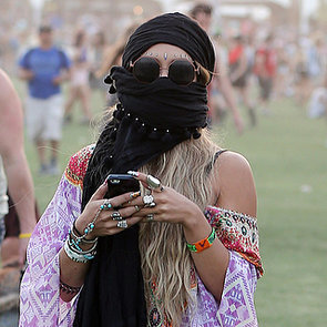 Celebrities Wearing Masks at Coachella 2014