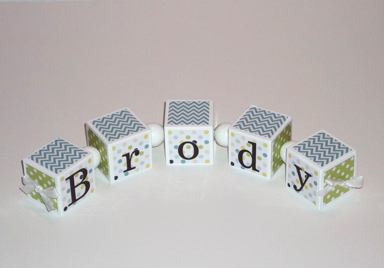 Baby Name Blocks