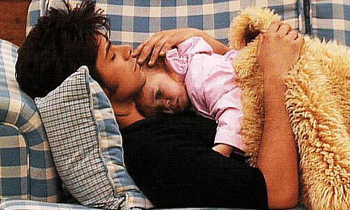 When he naps with Michelle.