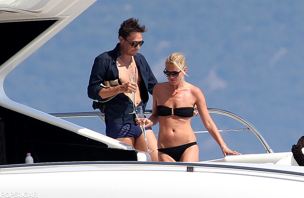 Kate Moss and Jamie Hince soaked up the sun in Corsica following their July 2011 affair.