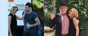 Lara Bingle Joins Sam Worthington on the Set of Cake