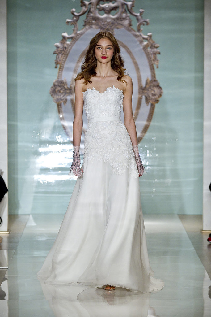 reem acra spring 2015 wedding dress runway pictures popsugar fashion