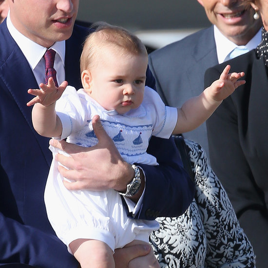 Cute Prince George Arriving in Australia
