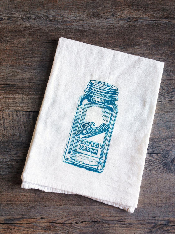 Mason Jar Cotton Kitchen Towel