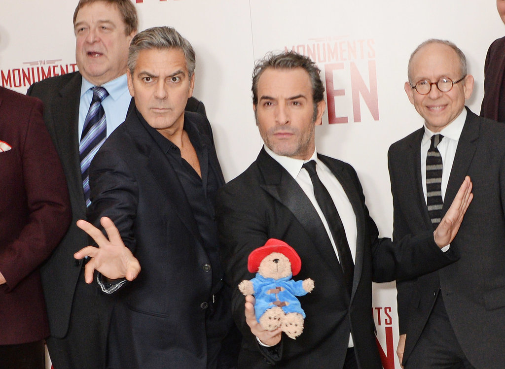 The Cast of The Monuments Men Taking Paddington Bear Very Seriously