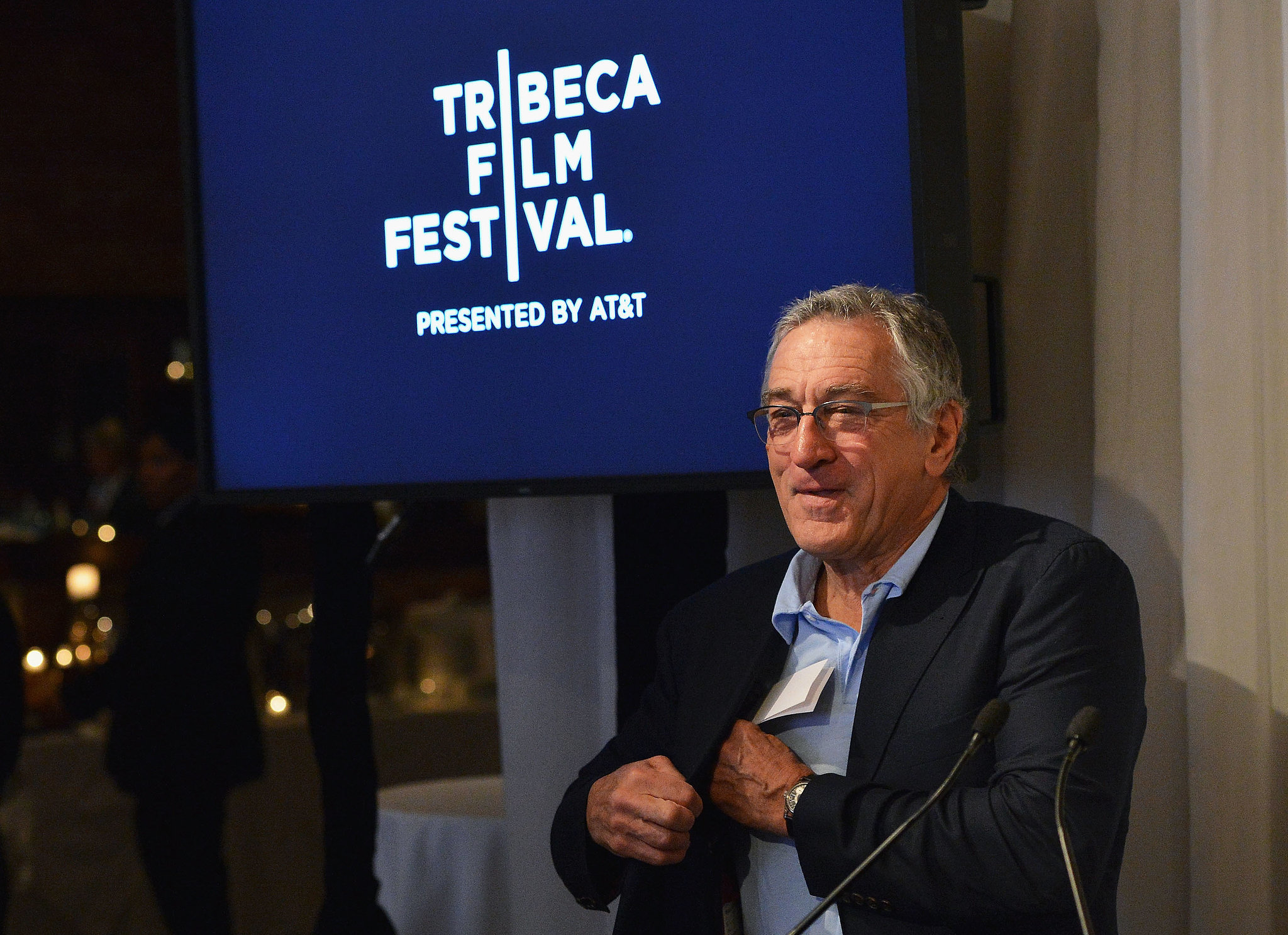 Tribeca Film Festival cofounder Robert De Niro hosted an opening event.