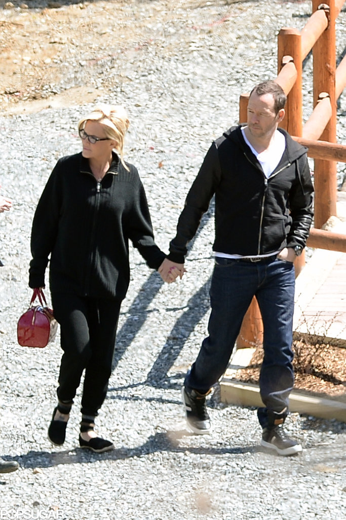 Jenny McCarthy Puts Her Blinged-Out Hand in Donnie Wahlberg's