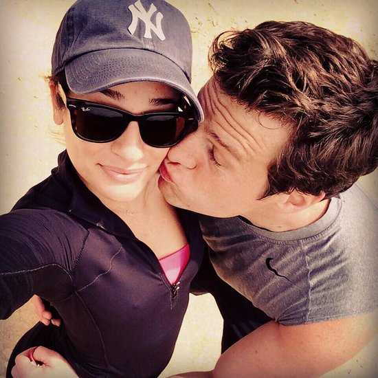 Lea Michele and Jonathan Groff After a Hike in LA