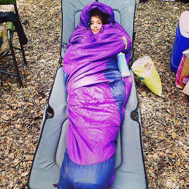 Did Jessica Alba go camping? The actress posted this pic of her sleeping arrangements on Saturday.  Source: Instagram user jessicaalba