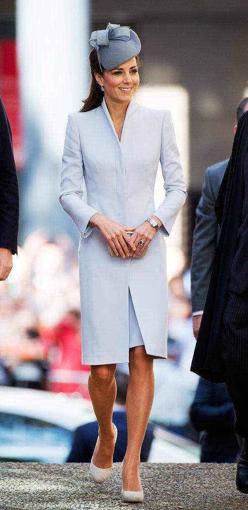 Kate Middleton in Pale Blue on Easter