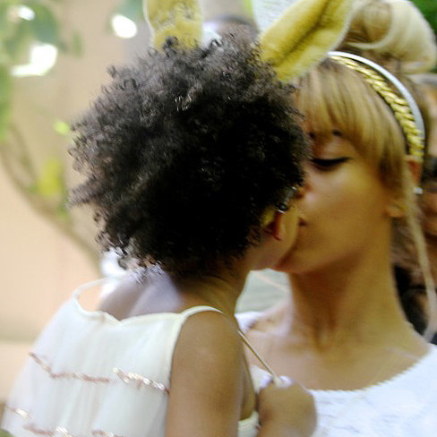 Beyonce and Blue on Easter 2014