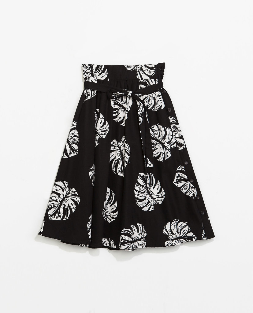 Zara Printed Full Skirt
