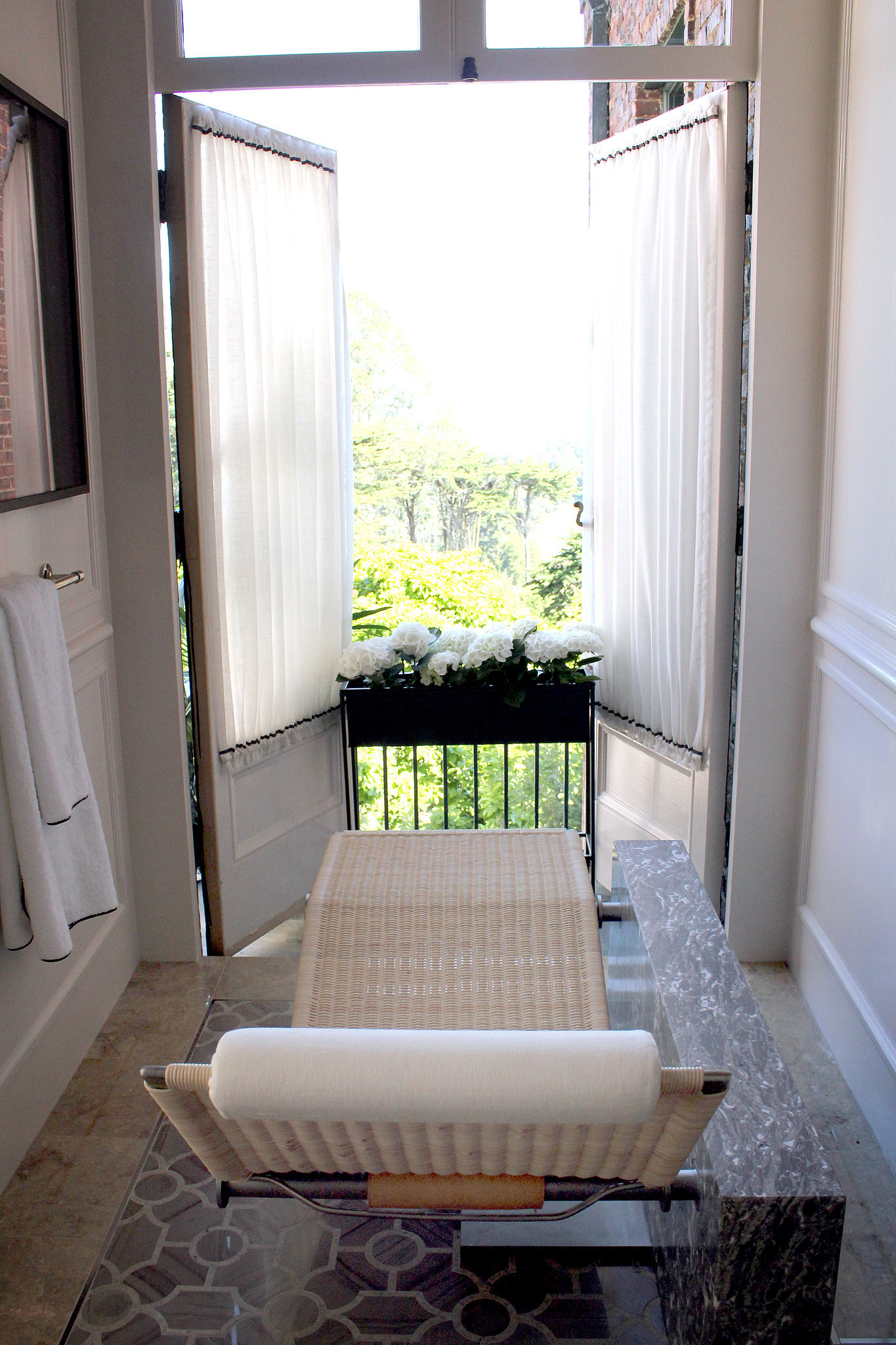 Oh, and did we mention the views from the bathroom? That chaise lounge is to die for.