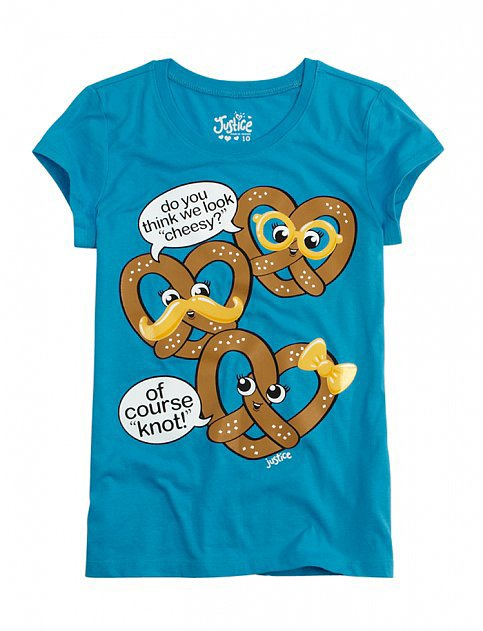 Cheesy Pretzel Graphic Shirt