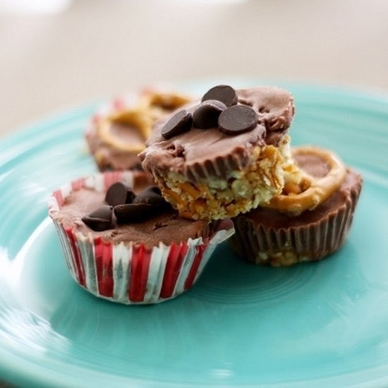 Chocolate Ice Cream Bites With Pretzel Crust