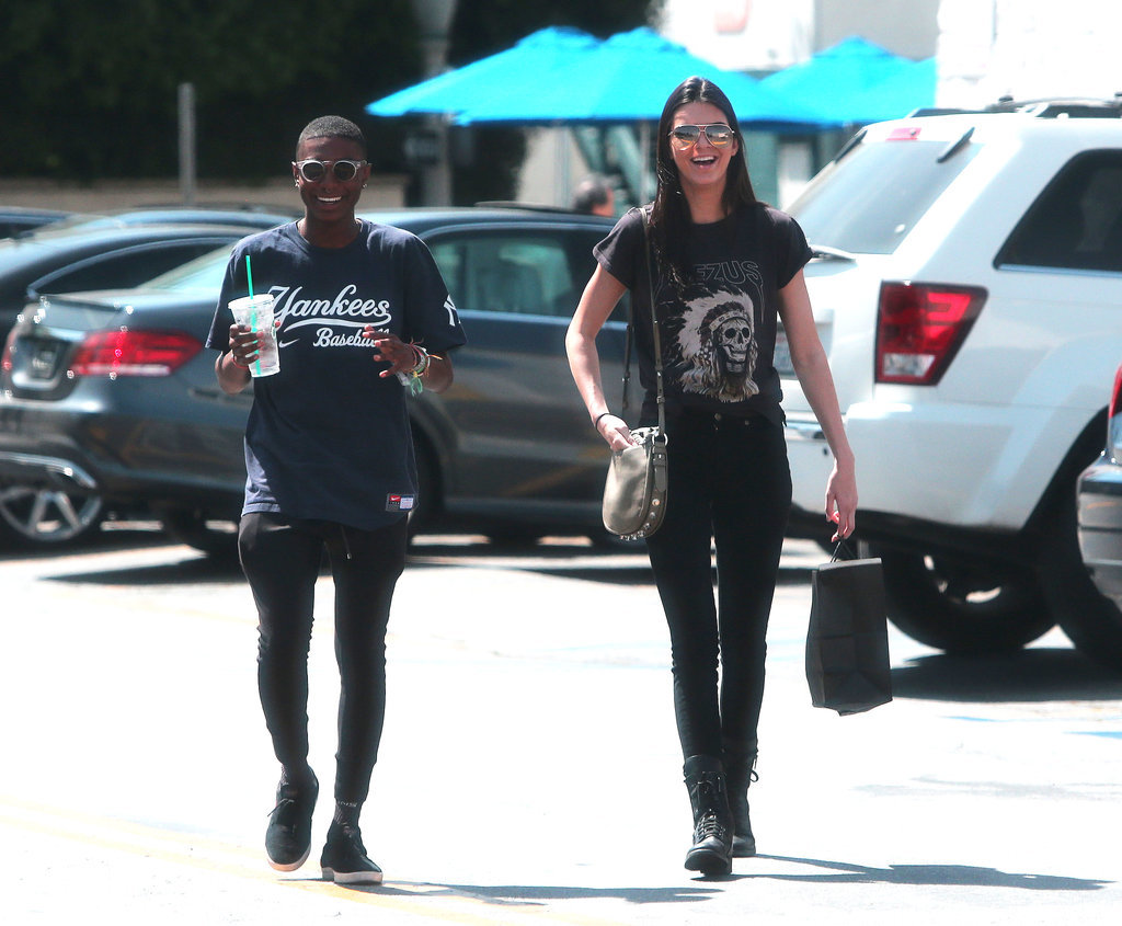 """Kendall Jenner wore a """"Yeezus"""" t-shirt while going on a coffee run with a pal in LA on Wednesday."""