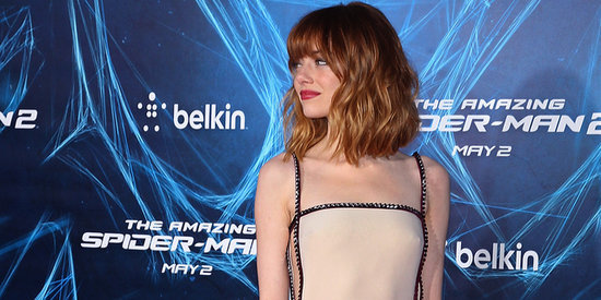 Emma Stone Is Dreamy In Nude Cut-Out Gown At 'Amazing Spider-Man 2' Premiere
