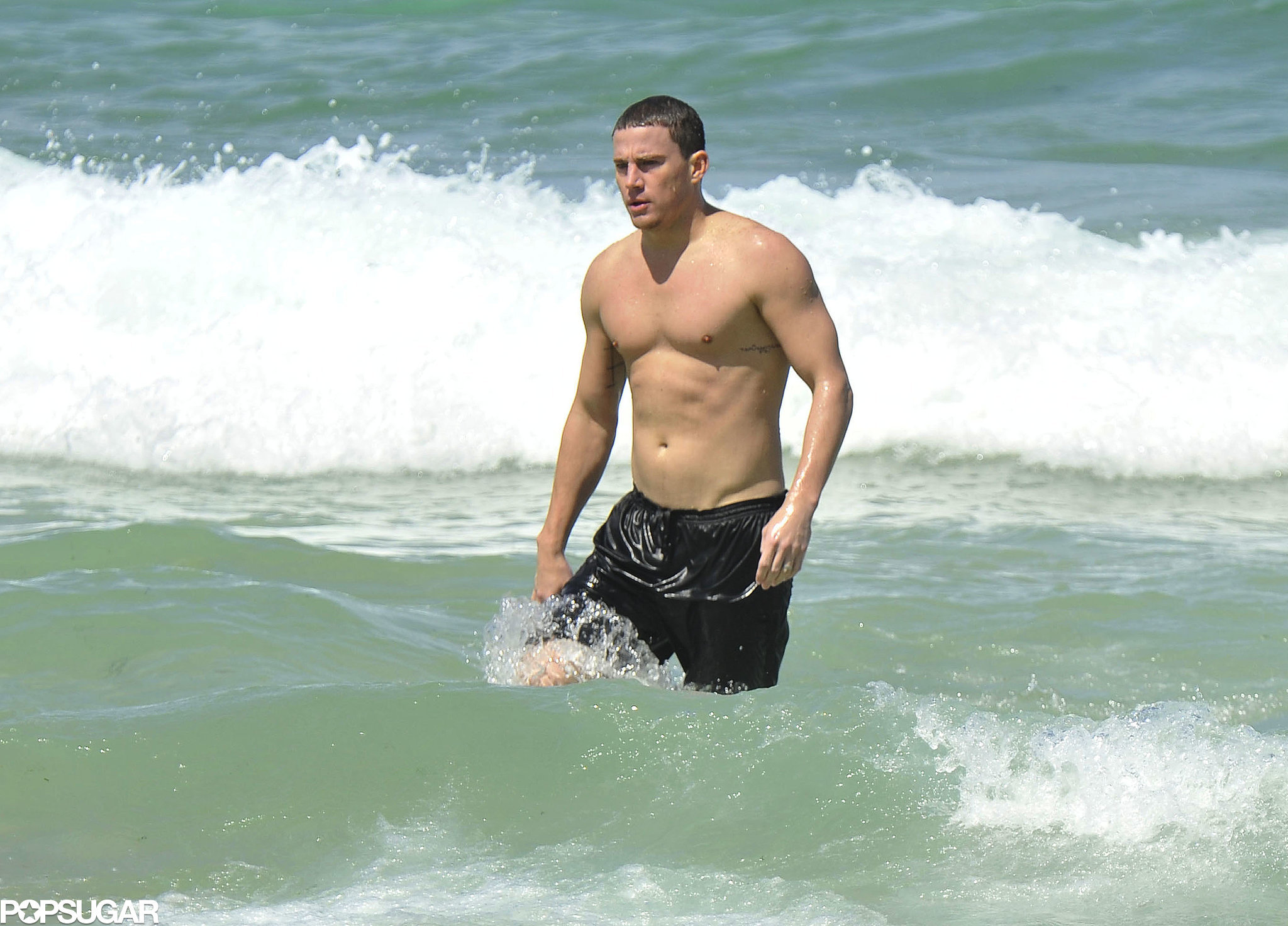 Channing filmed scenes for 21 Jump Street at the beach in Australia in February 2012.