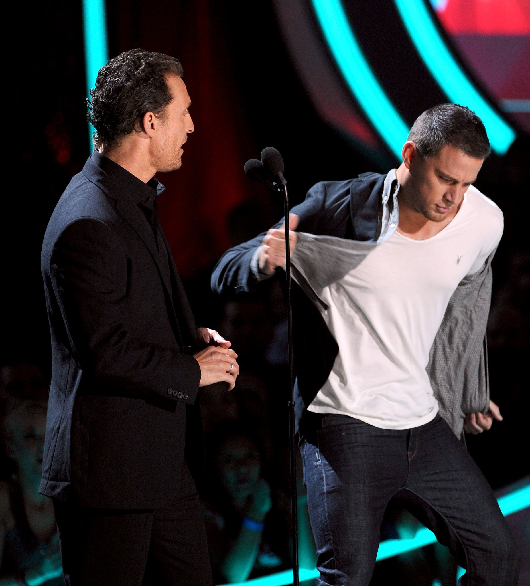 Channing showed off his dance moves onstage at the 2012 MTV Movie Awards in June.
