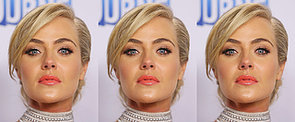 It's All Class For Jessica Marais With an Elegant Up 'Do and Coral Lip