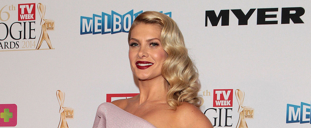 Natalie Bassingthwaighte Rocks Rich Red Lips For Old Hollywood Glam