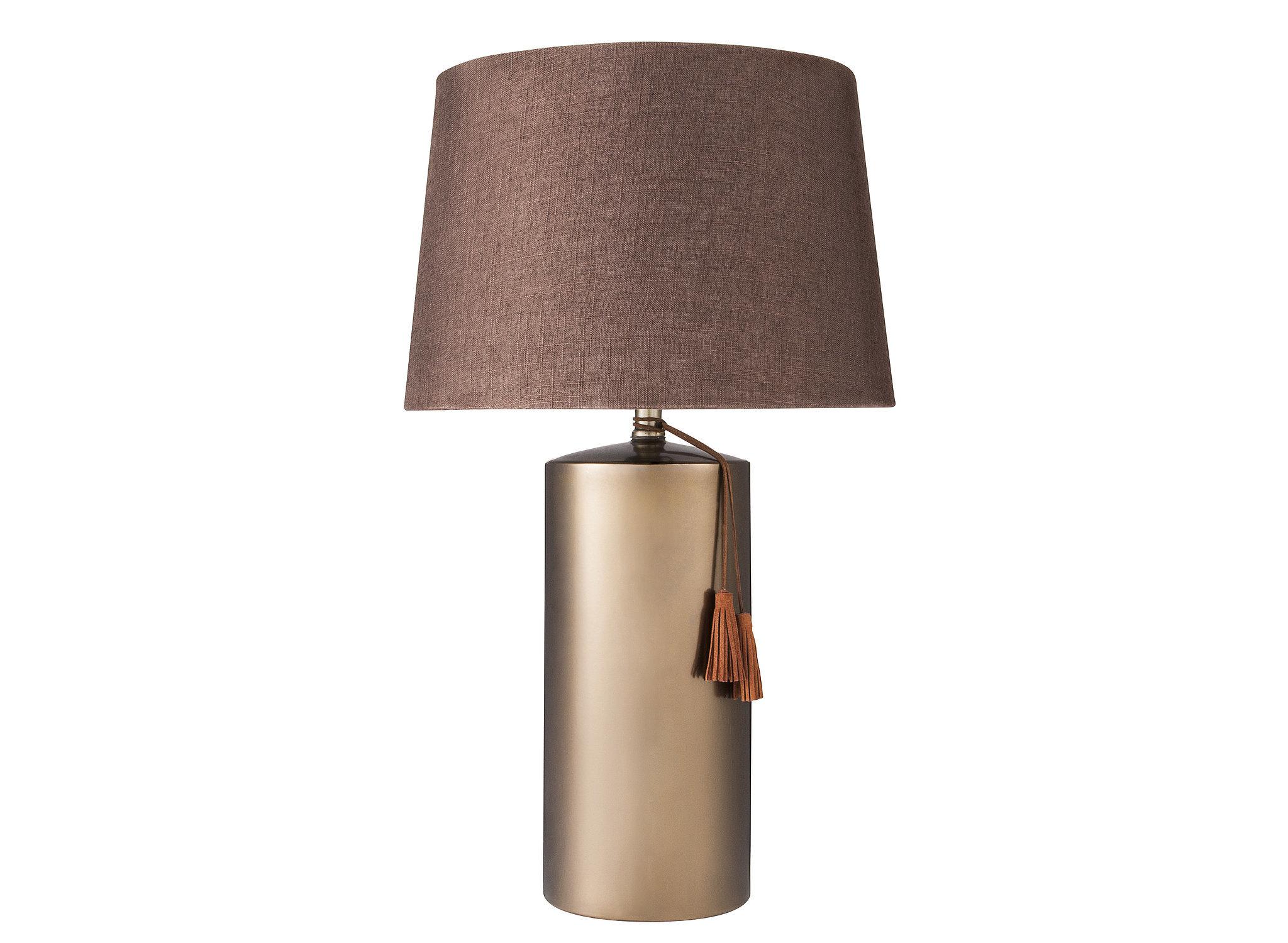 Tassel Lamp ($50) and Linen Lamp Shade ($25)