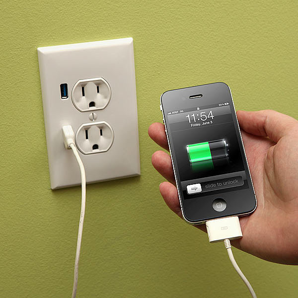 This smart USB socket wall plug, because life's too short to have to deal with a charger head.  Source: Think Geek