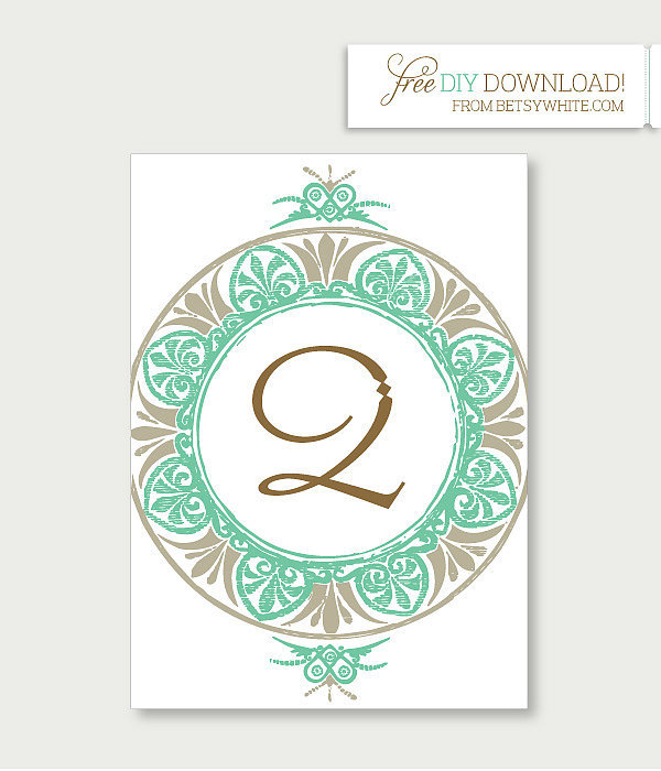 Medallion Table Numbers