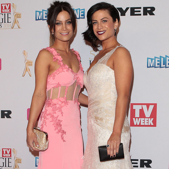 The Block's Alisa And Lysandra Fraser At 2014 Logies