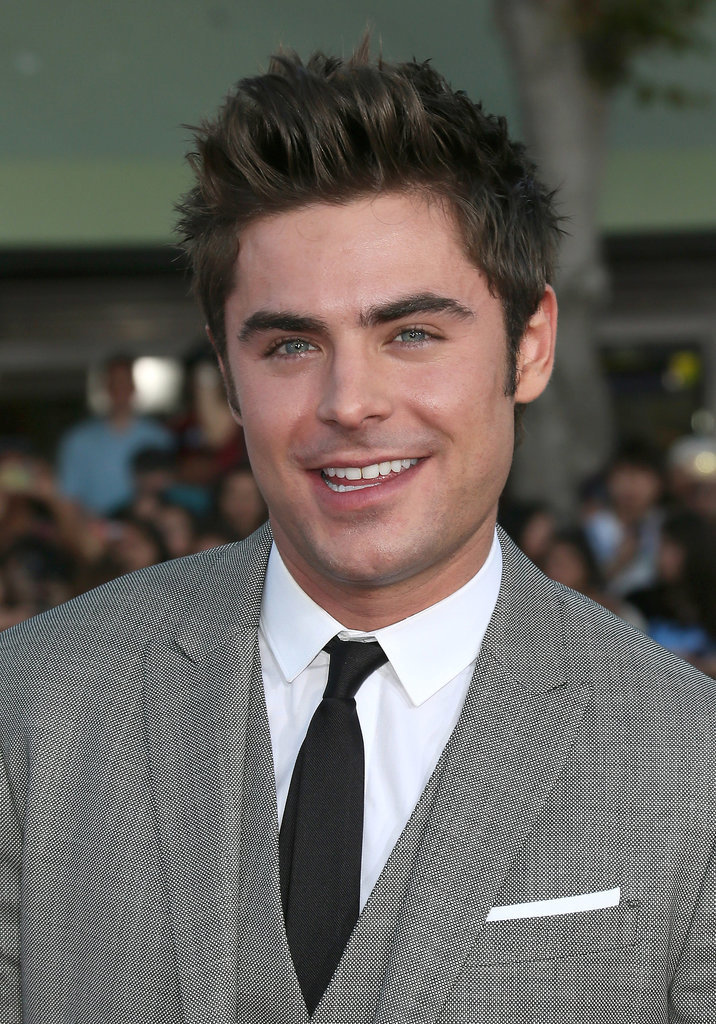 Zac flashed this smile.