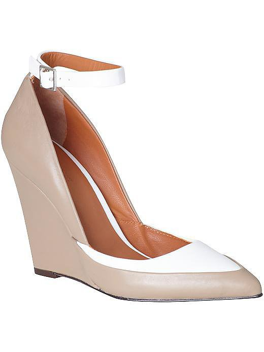 Rachel Roy Avelli nude and white ankle-strap wedges ($195, originally $275)