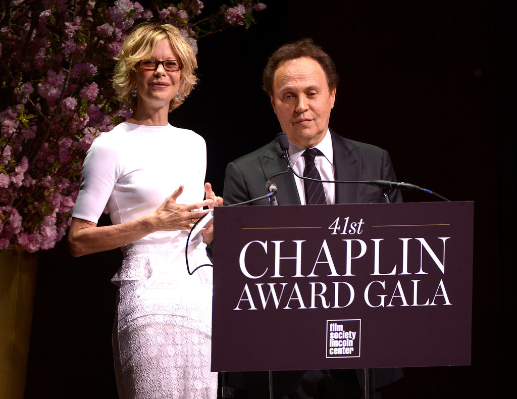 Meg Ryan and Billy Crystal reunited for the Chaplin Award gala in NYC on Monday.