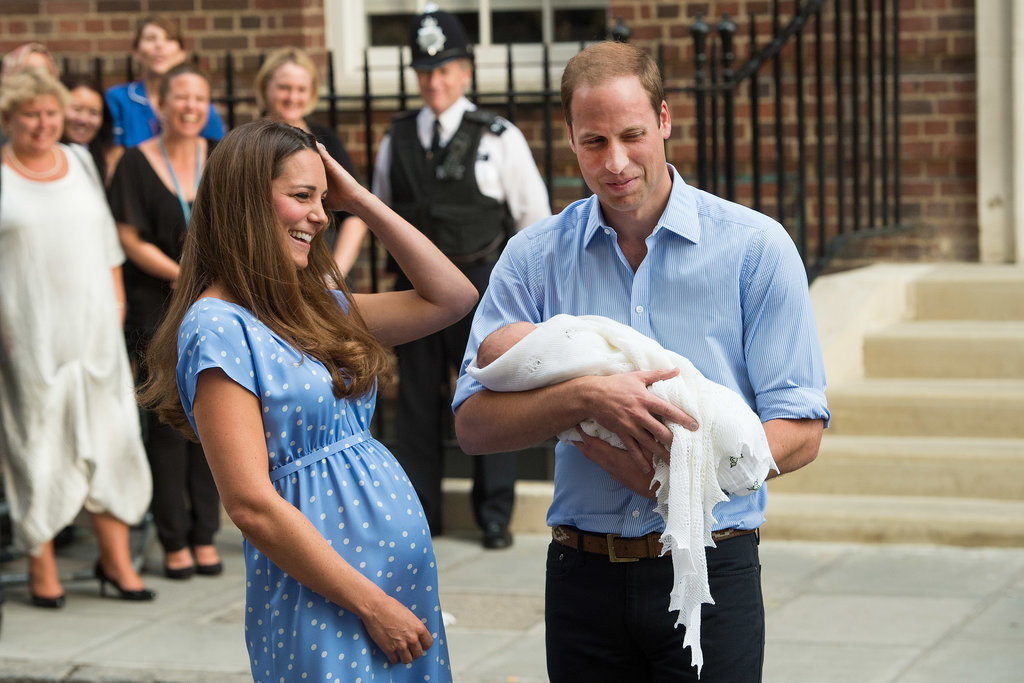 New parents Will and Kate were beaming when they introduced their son to the world on July 23, 2013.