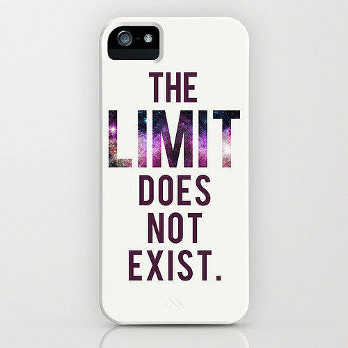 """The limit does not exist"" iPhone/Galaxy S5 case ($35)"