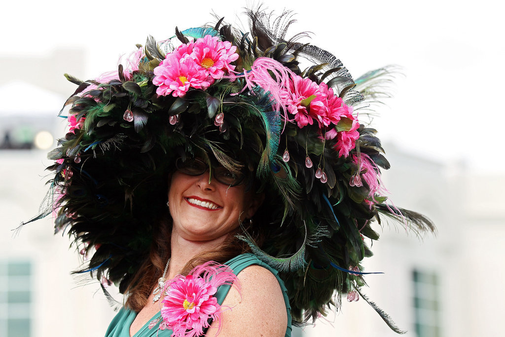 Feathers, flowers, and gems — oh, my! This woman went big in 2012.