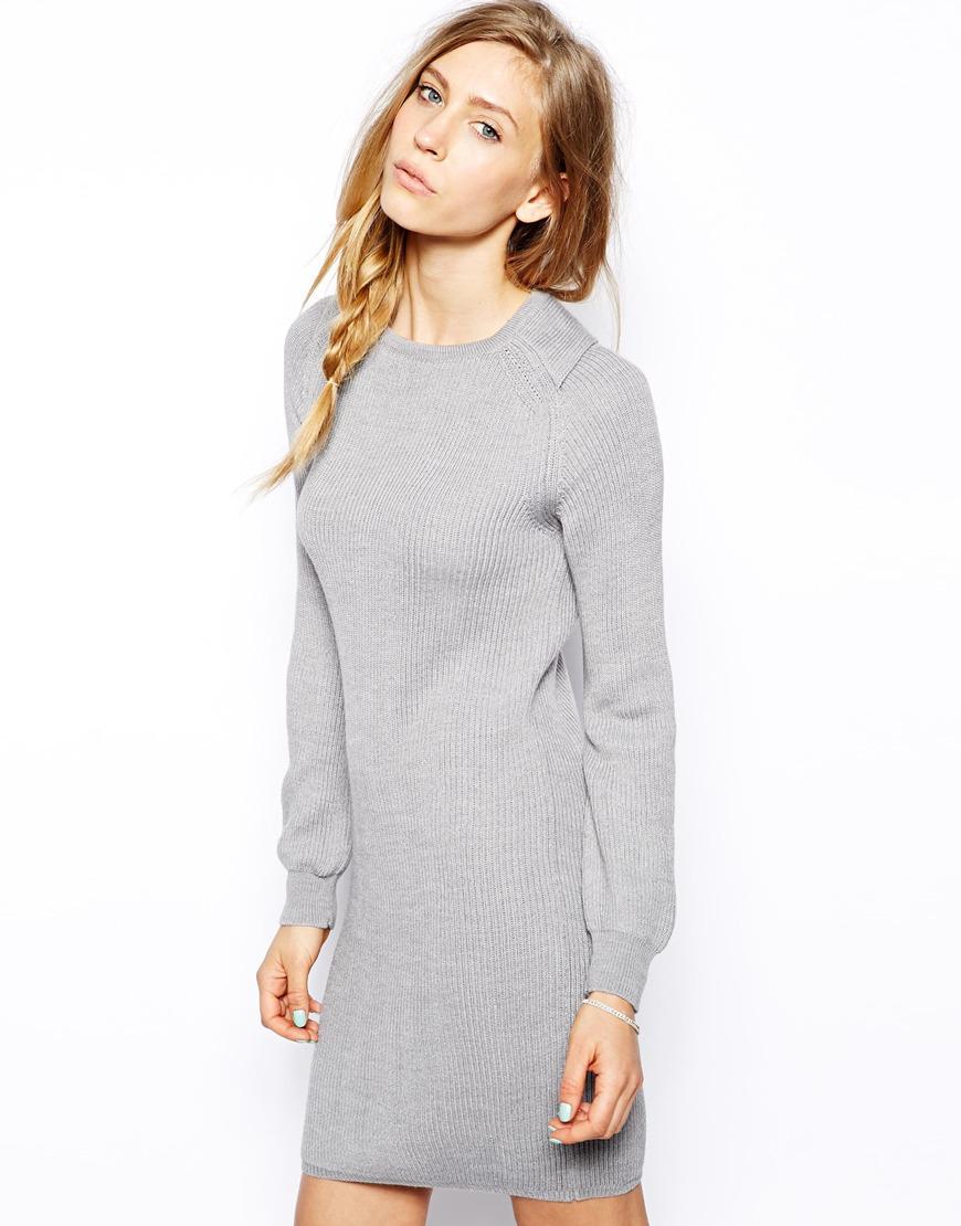 ASOS Gray Sweater Dress