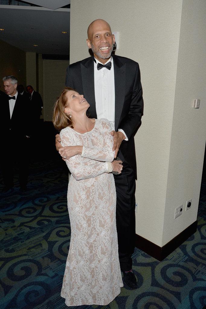 Kareem Abdul-Jabbar towered over Katie Couric.