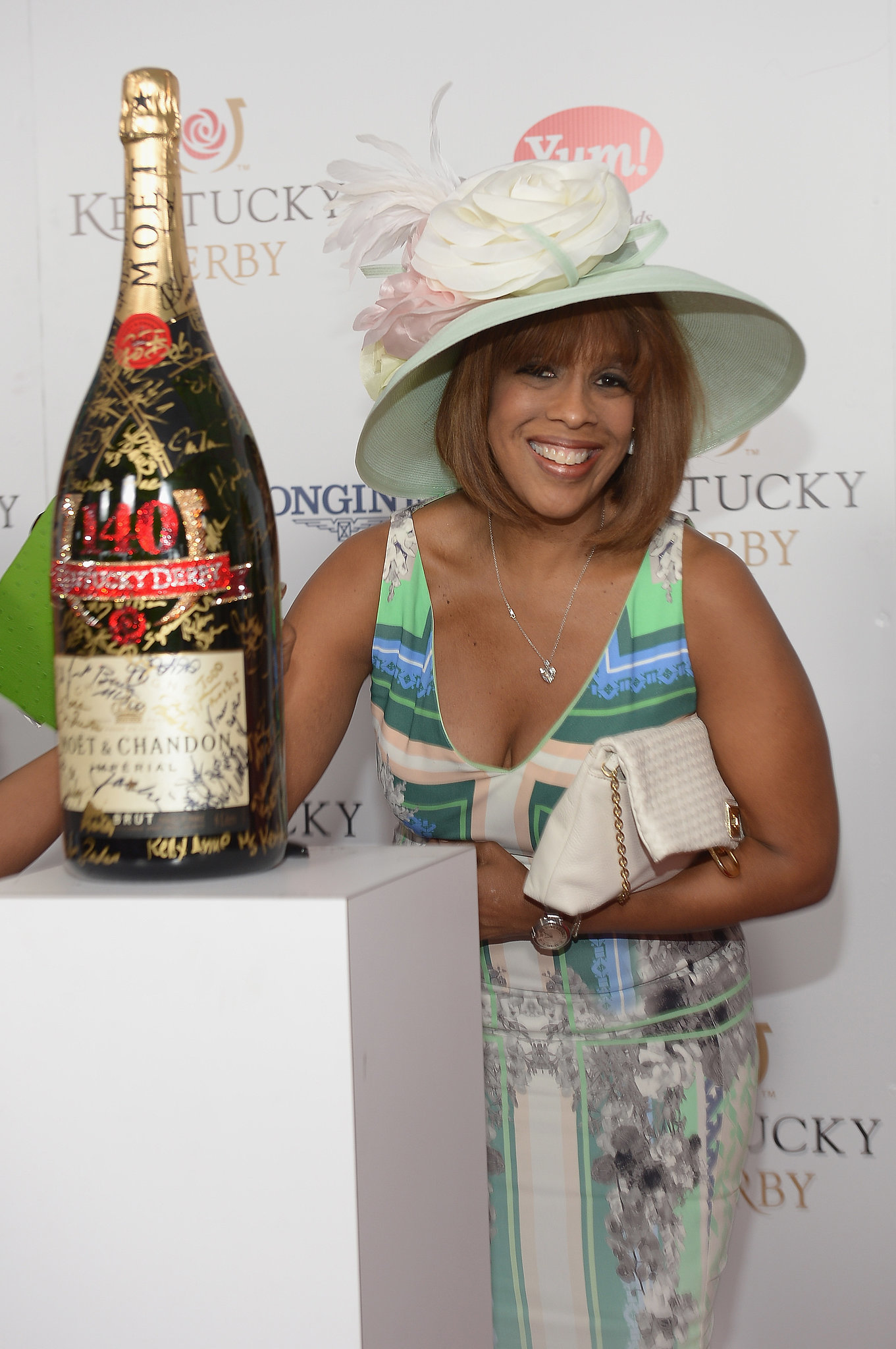 Gayle King got in on the derby fun.