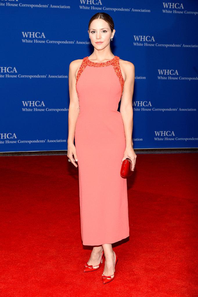 Katharine McPhee was pretty in pink.