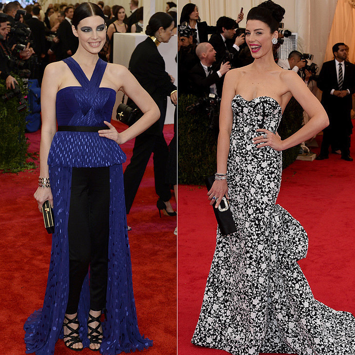 Jessica Paré at the 2013 and 2014 Met Galas